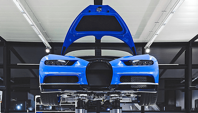 Montagem do Bugatti Chiron