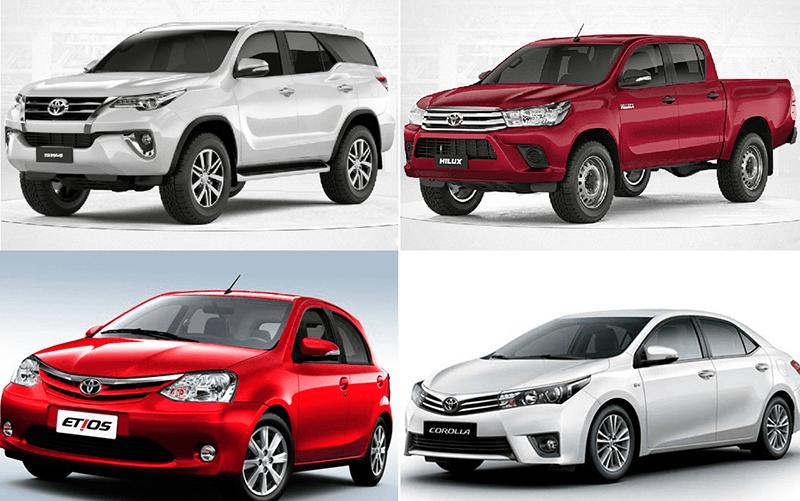 Recall Toyota. Quais os 4 carros convocados?